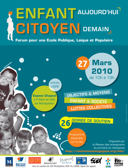 Enfant aujourd'hui, citoyen demain - Forum pour une cole publique, laque et populaire